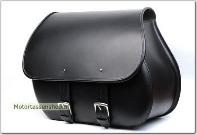 Motortas Bigbag, zwart leer, 1x40L, J5901s