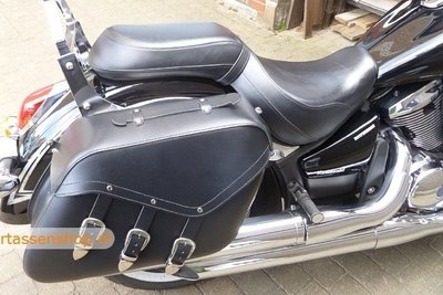 Honda Shadow motortas, zwart, 2 x 27 L G6000s