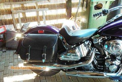 Harley Davidson Softail met motortas, zwart, 2X27L, G5501s