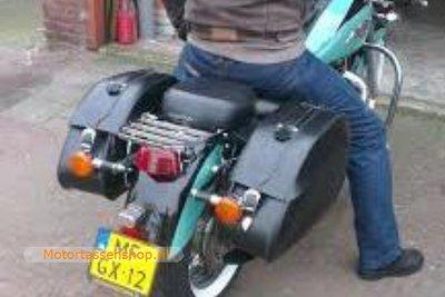 Honda Shadow ACE motortas, zwart, 2x30L, K6050s
