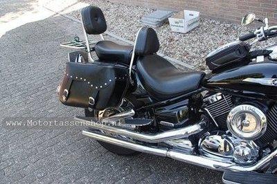Yamaha Virago met motortas, zwart, 2x17L, D1050s