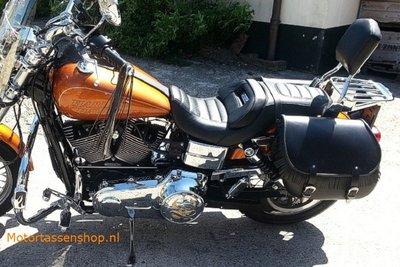 Harley Davidson Dyna met motortas, zwart, 2x27L, G5501s