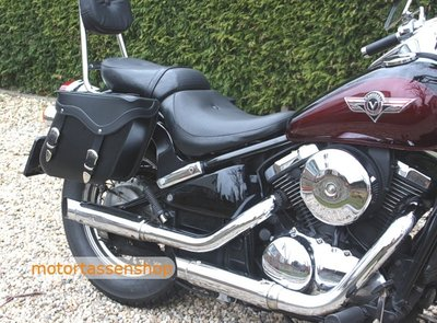 Kawasaki Vulcan motortas, zwart, 2x13 L, C2050s