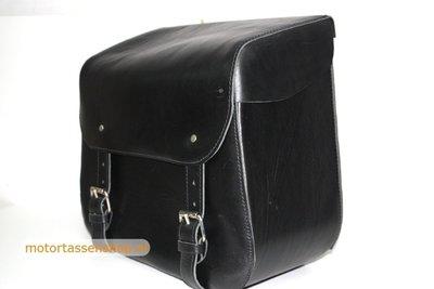 Choppertas, zwart, volledig polyester frame, alleen links te monteren