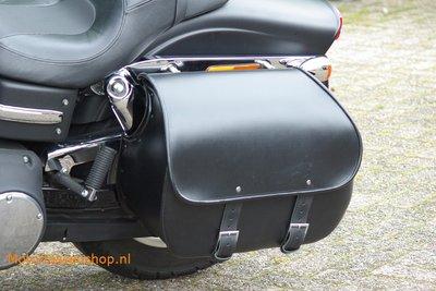 Harley Davidson Dyna met Bigbag, zwart leder, 40 L, P7900