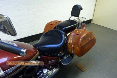 Yamaha Dragstar, cognac nerfleer, 2x30L, K6050