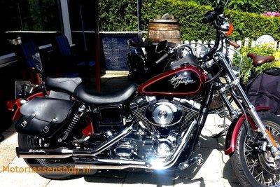 Harley Davidson Lowrider motortas, zwart nerfleder, 2x13,5 L, C4080