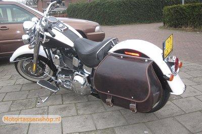 Harley Davidson Softail Bigbag, bruin nerfleder, 40 L, J5901b