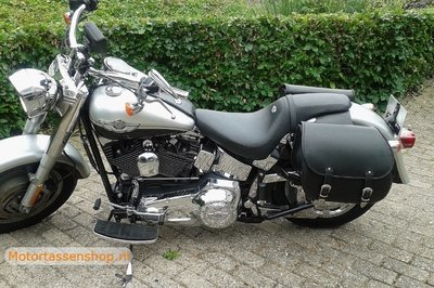Harley Davidson Softail met motortas, 2X27L, zwart, G5501s